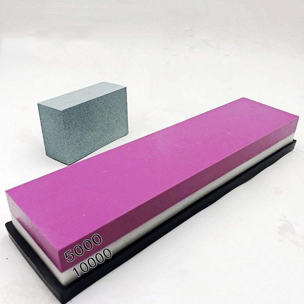Natural ?? Double-Sided Whetstone Whetstone-Finely Polished Ruby Whetstone grit for 5000 Minutes per 10,000, Send Base