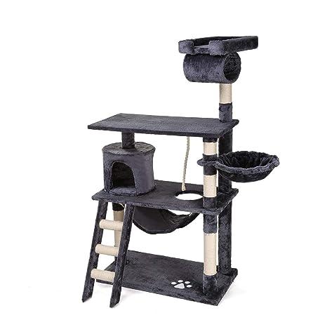Petonaut rascador Postes para Gatos Gato árbol Torre Gato Multifuncional Deluxe cómodo Gato Muebles condo Estable