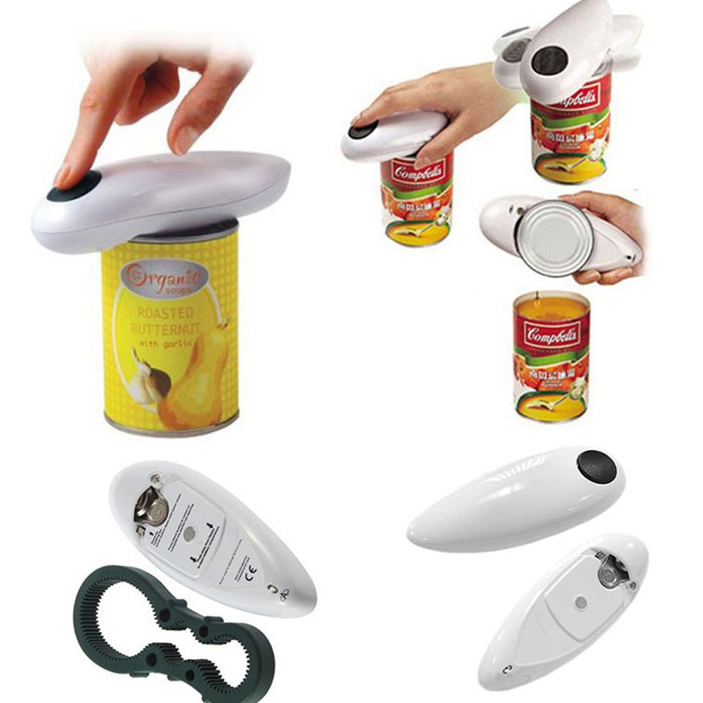 Electric Can Openers, Automatic Professional Tin Opener One Button Auto Opener Batteries Operated Kitchen Gadgets for the Elderly Tookie