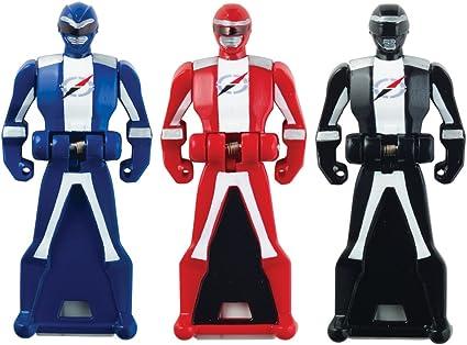 Power Rangers Super Megaforce - Operation Overdrive Legendary Ranger Key Pack, Red/Blue/Black