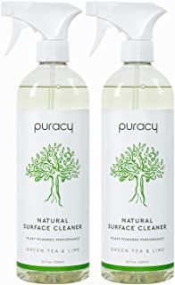 product image for Puracy All Purpose Cleaner, StreakFree, Food Safe Natural Household MultiSurface Spray, Green Tea & Lime, Green Tea & Lime, 25 Fl Oz (Pack of 2), Green Tea & Lime, 50 Fl Oz