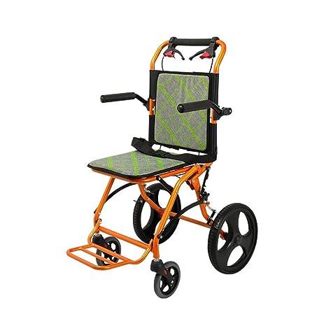 Amazon.com: YE ZI silla de ruedas plegable, pequeña y ligera ...
