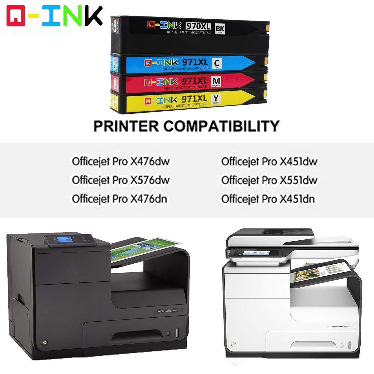 QINK Pack de 4 Cartuchos de Tinta para HP 970XL HP 971XL para ...