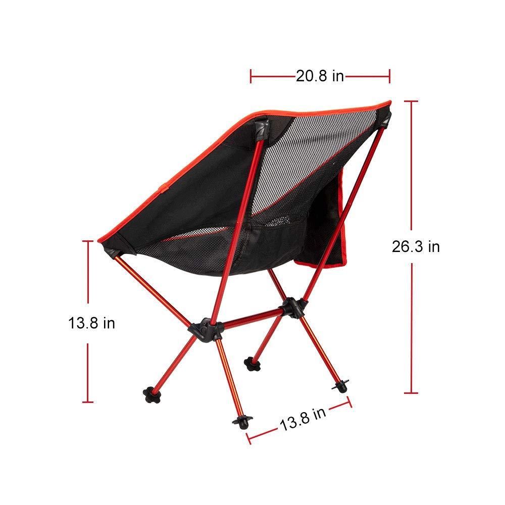 Zerllaug Silla de Camping Plegable, Ligera, portátil, para ...