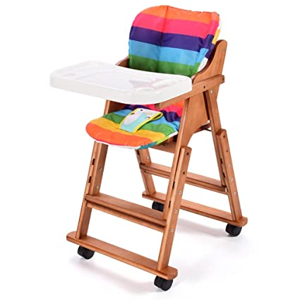 Amazon.com: Childrens dining chair Solid wood baby dining table and ...