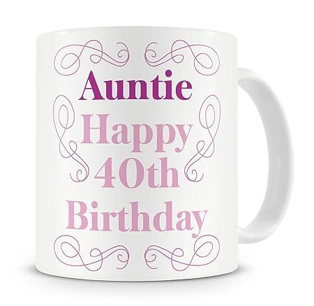 QuotAuntie Happy 40th Birthdayquot Mug
