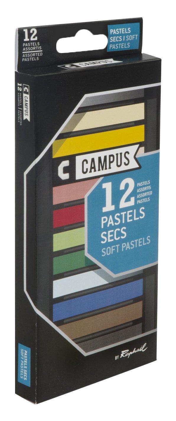 Campus–k60b.12–Scatola di 12colori pastelli secchi Groupe Max Sauer