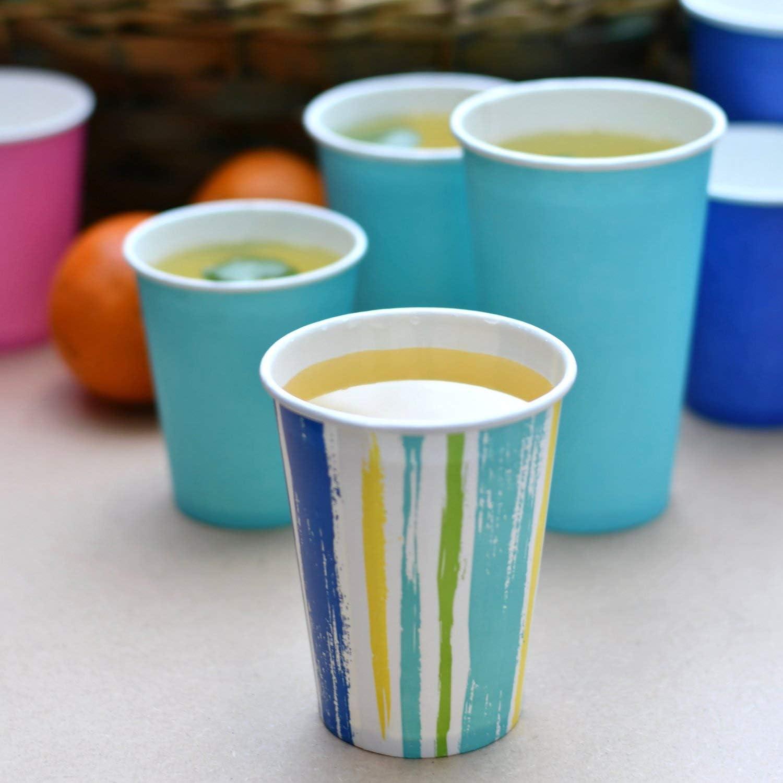 50 St/ück Pack/&Cup Eco Einwegbecher Pappbecher f/ür Kaltgetr/änke Lollipop 300 ml 12 OZ