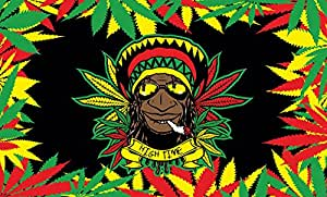 Rasta Dude Multi Colored interior o exterior volar bandera 3 x 5ft Banner