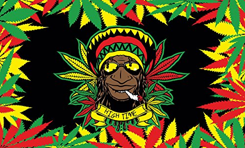 Rasta Dude Multi Colored Indoor or Outdoor Flying Flag 3x5ft