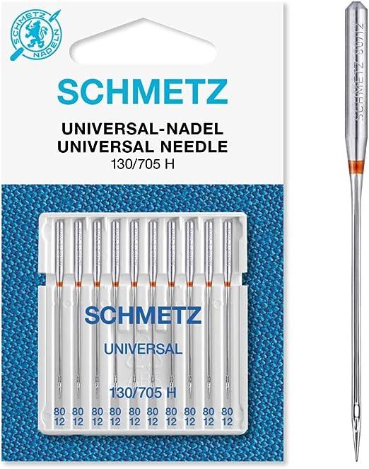 Schmetz Agujas para máquinas de coser universales (130/705 H) Pack ...
