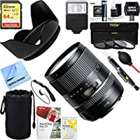 Tamron 16-300mm f/3.5-6.3 Di II VC PZD MACRO Lens for Canon EF-S Cameras (AFB016C-700) + 64GB Ultimate Filter & Flash Photography Bundle