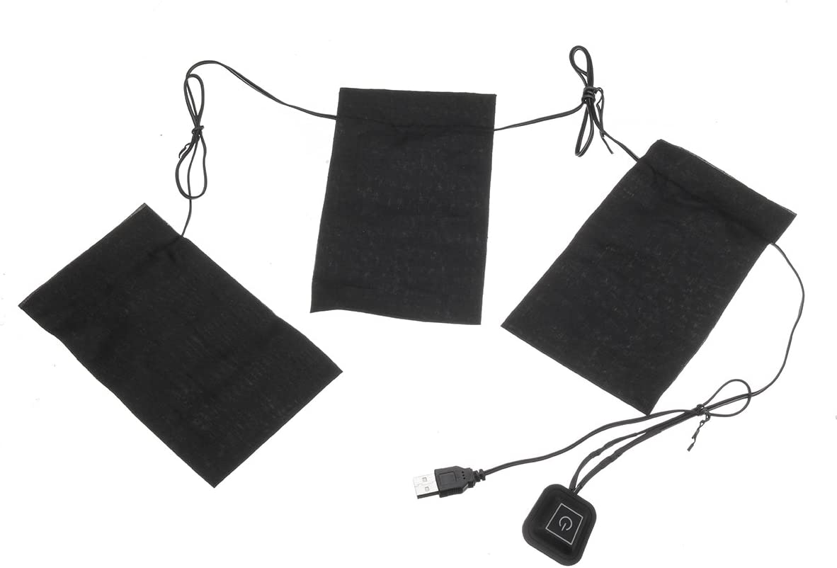 5V 2A 8.5W Electric Heating Pads 3Pads Waterproof Heating Cloth Pads Set