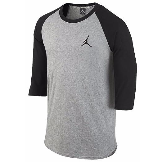Jordan by Nike Men's Core 3/4 Sleeve Raglan Shirt (XX-Large)
