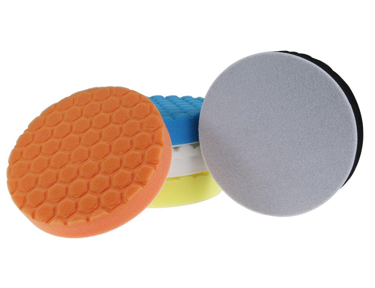 Confezione da 5 pollici 150 mm Hex-Logic per lucidatura auto Confezione da 5 AGGER