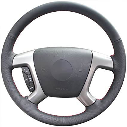WOOD LEATHER Effect Steering Wheel Cover fits CHEVROLET