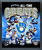 """Milwaukee Brewers MLB All Time Greats Composite Photo (Size: 17"""" x 21"""") Framed"""