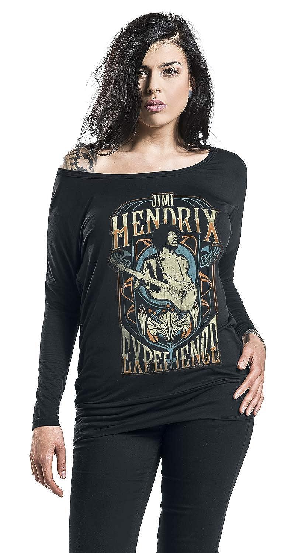 Jimi Hendrix Art Nouveau Langarmshirt schwarz