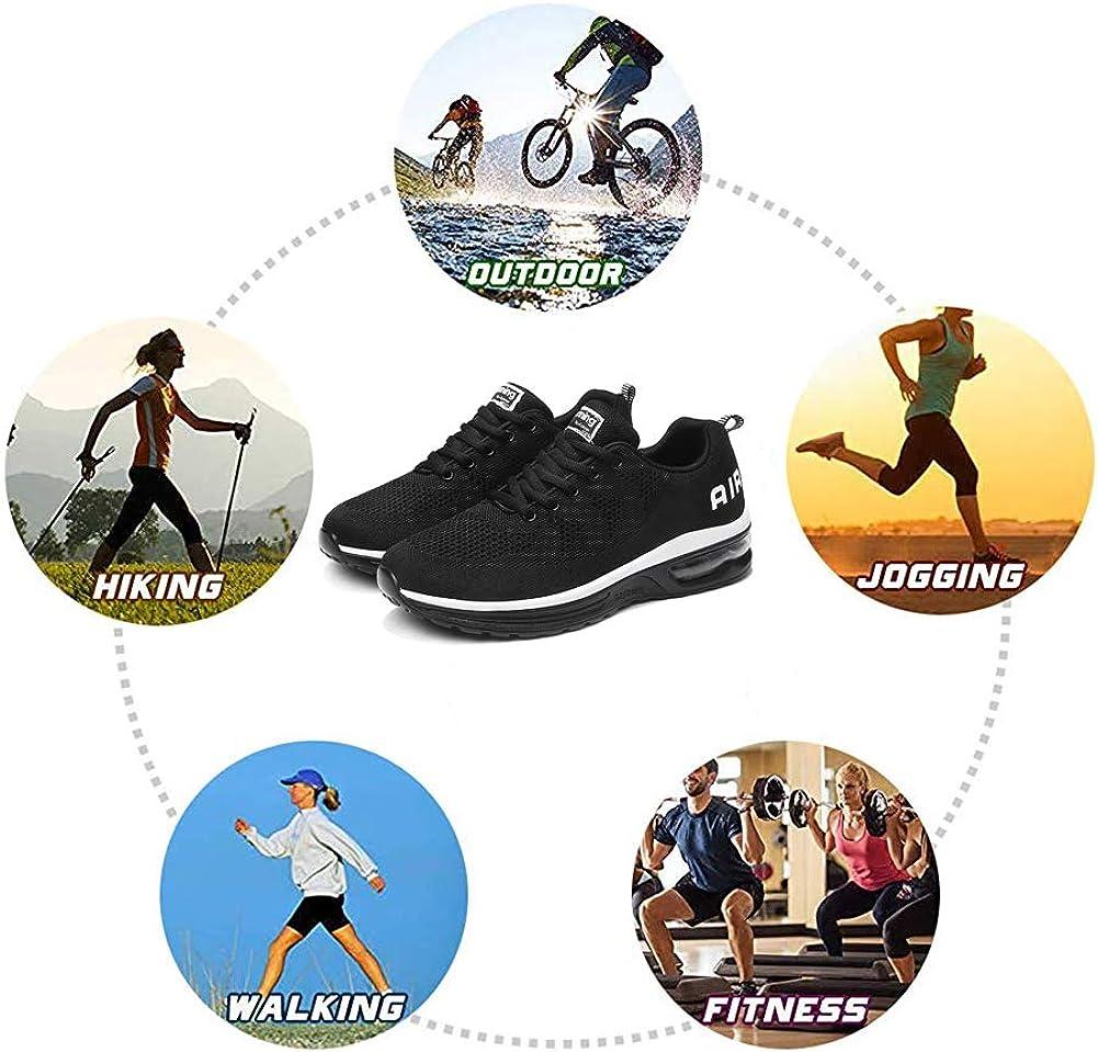 MIMIYAYA Damen Sportschuhe Herren Laufschuhe mit Luftpolster Turnschuhe Sneakers Leichte Sport Schuhe Outdoor Trainers 34-46 EU