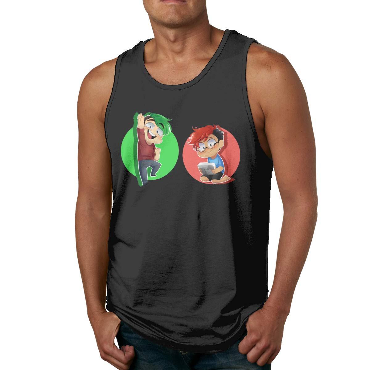 Markiplier Jack Septic Eye Merchandise S Workout Sleeveless Tank Top Summer Sport T Shirt