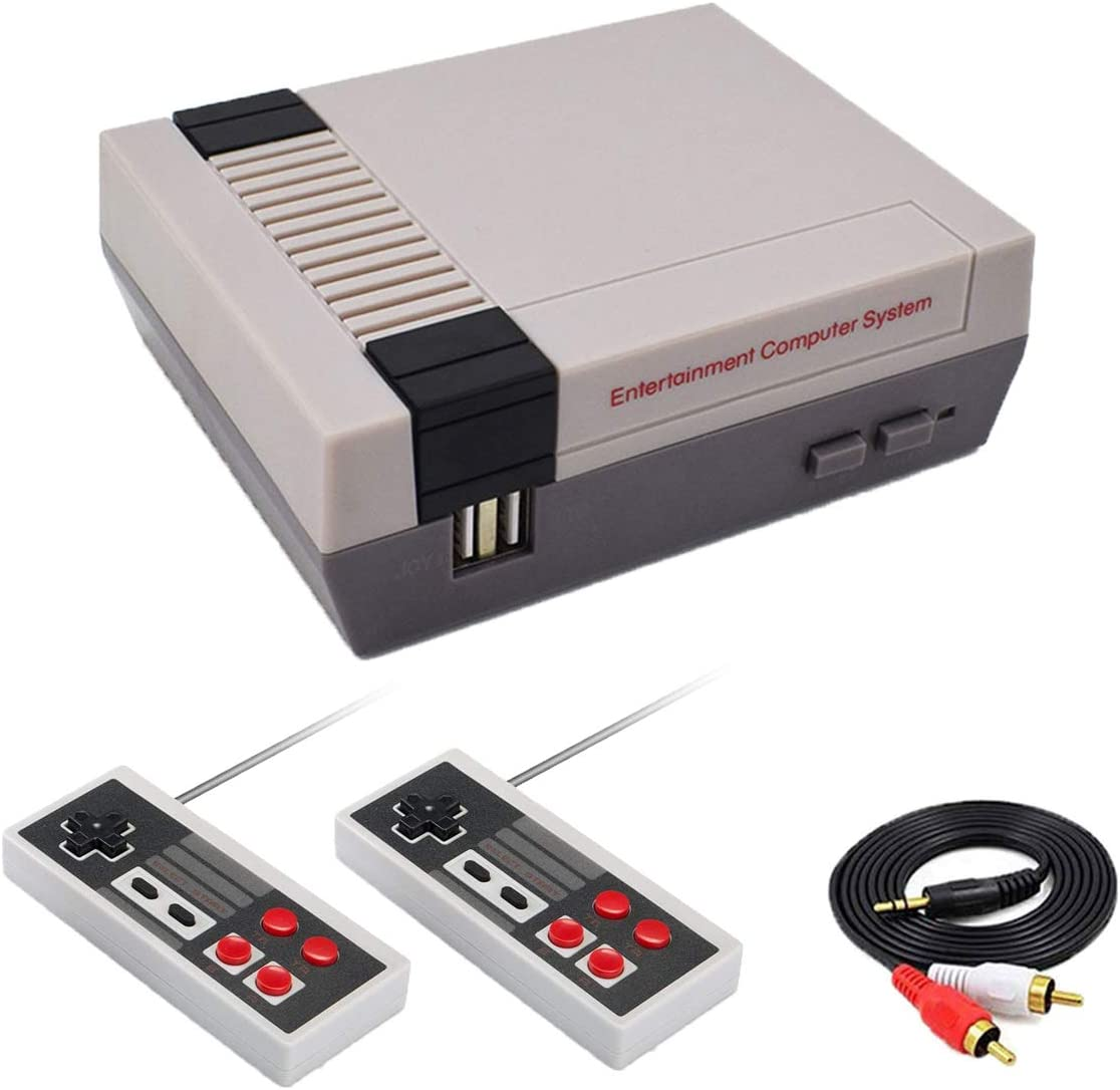 AcceLegend Retro Game Console Classic Video Preloaded Game Console Family Entertainment System with Built-in 620 Games, Upgraded 8 Bit Video Game Console with Dual Controllers for Kids Adult