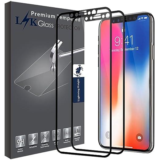 2 opinioni per [2 Pack] LK per iPhone X Pellicola Protettiva, [Copertura Completa] Protezione