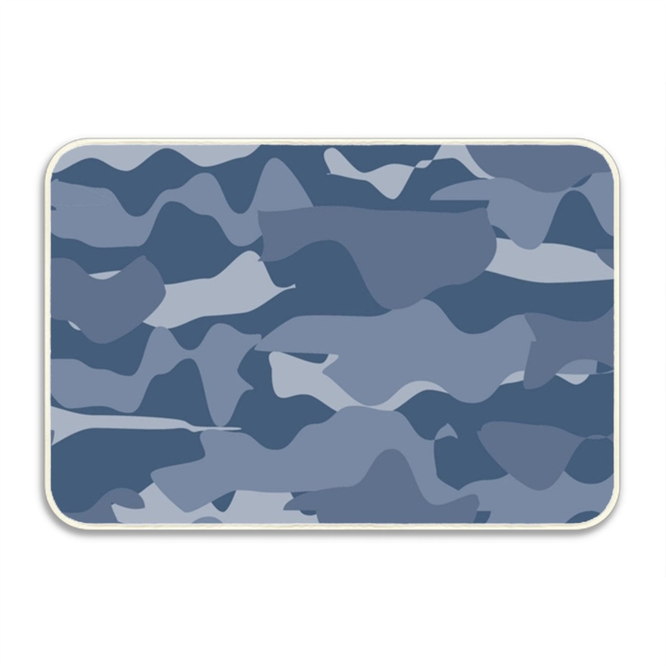 WYIOU Simple Shoe Floor Mat Military Blue For School Printed