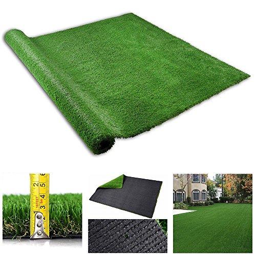 Yescom Artificial Grass Mat Fake Lawn Pet Turf Synthetic Pet Dog Pee Potty Pad Green Garden Yard Indoor Outdoor 4x6.6ft