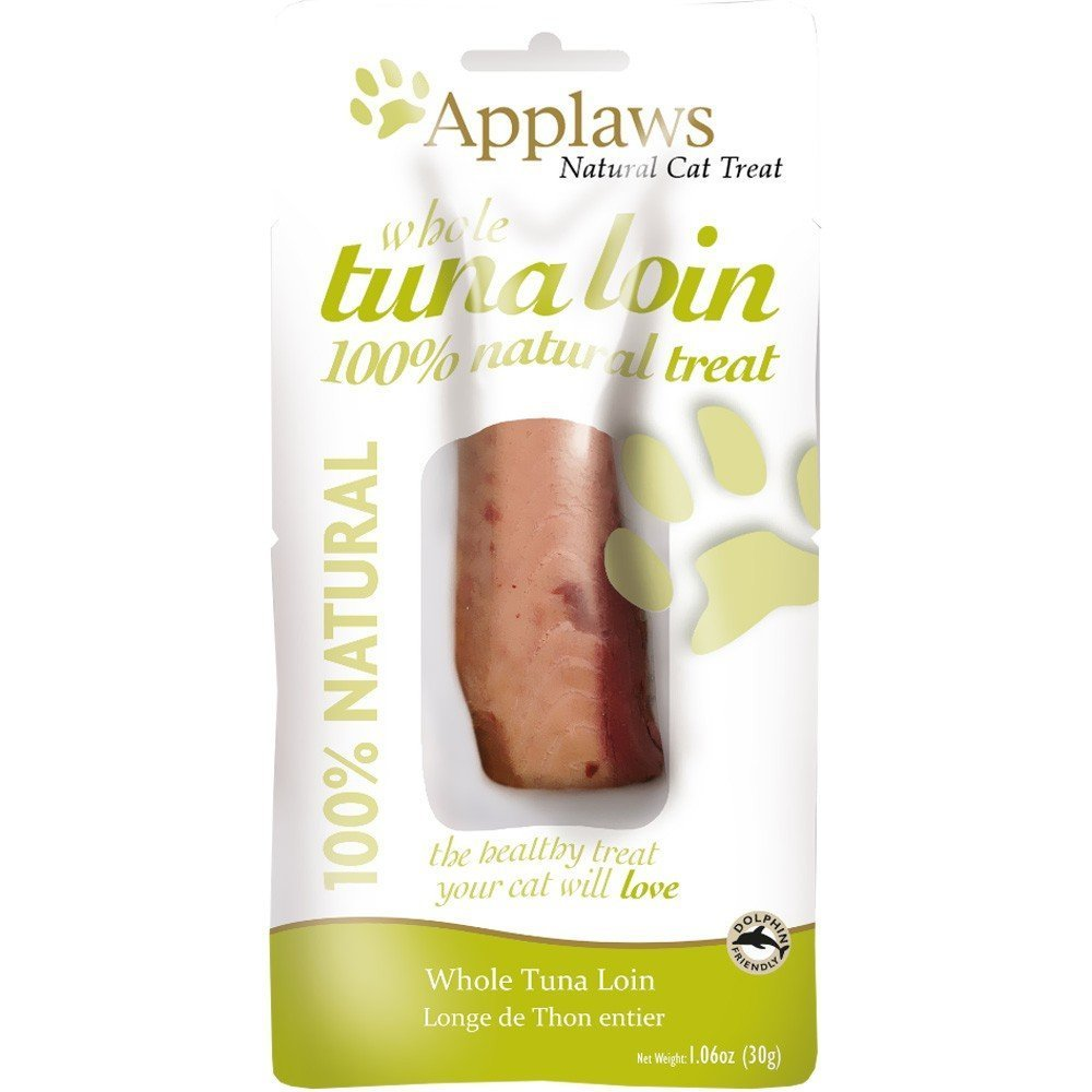 12 Count Applaws Premium Cat Treat Tuna Loin 1.06 oz, Additive Free, Healthy Cat Snack, Heart & Eye Health (12 Count)
