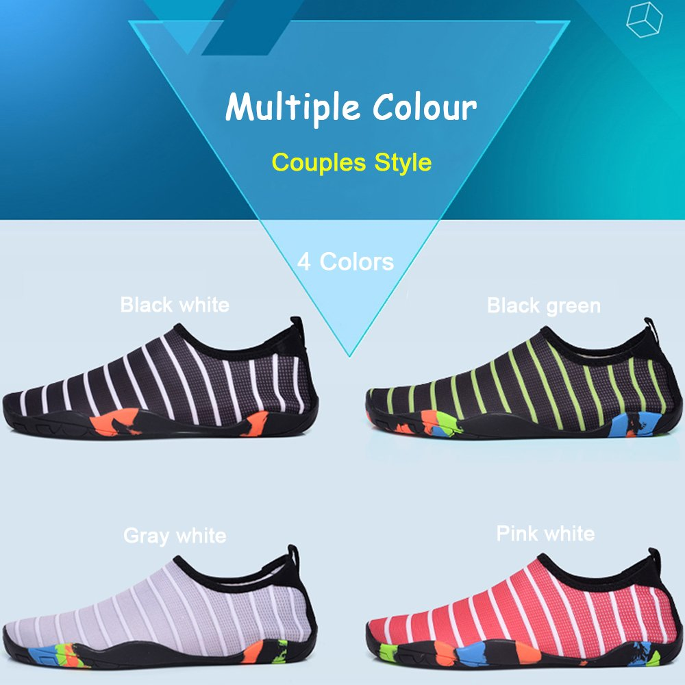 Sunjcs Water Shoes Barefoot Quick-Dry Aqua Beach Pool Surf Swim Walking Yoga Shoes for Men Women Kids