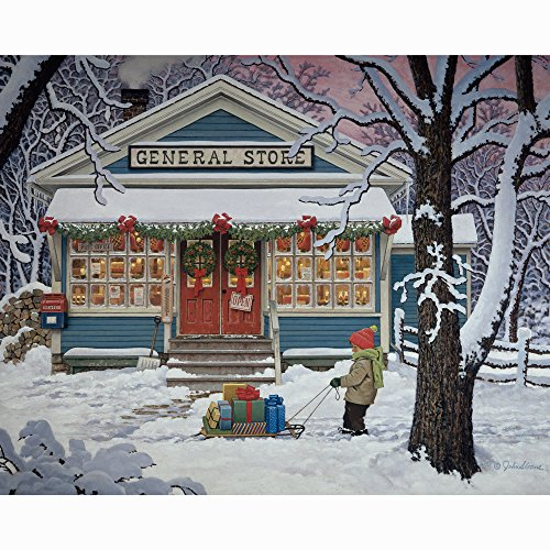 Bits and Pieces - 500 Piece Jigsaw Puzzle for Adults - Last Minute Shopper - 500 pc Winter Holiday Scene Jigsaw by Artist John Sloane