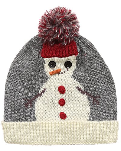 MIRMARU Christmas Holiday Fashion Collections Winter Knitted Pom Pom Beanie Hat.(70550-Snowman)