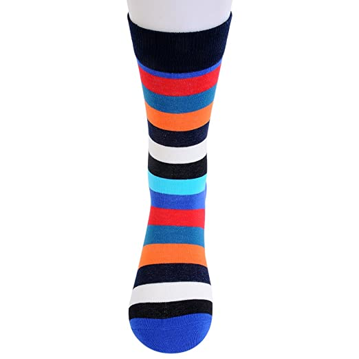 Mens and Women Funny Colorful Patchwork Striped Cotton Socks Happy Socks Calcetines Largos Hombre