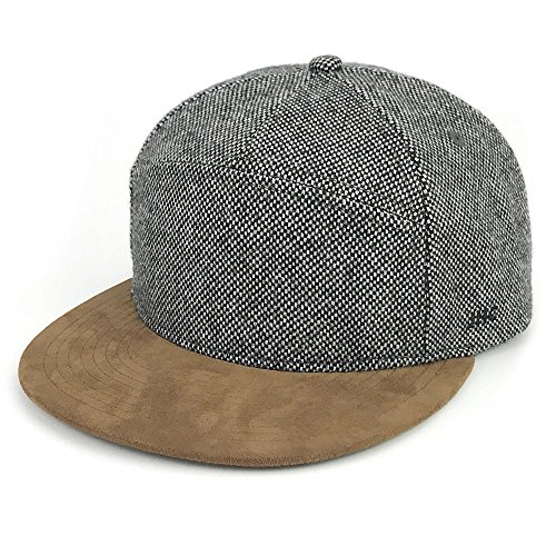 JHC Warm Flat Bill Snapback Wool Hats Hip Pop Caps for Men
