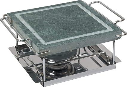 Grill piedra cuadrado Orework: Amazon.es: Hogar