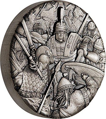 2018 TV Modern Commemorative ROMAN LEGION Warfare 2 Oz Silver Coin 2$ Tuvalu 2018 Antique (Modern Commemorative Proof)