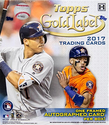 2017 Topps Gold Label Baseball Hobby Box (7 Packs of 5 Cards: 1 Framed Autograph and 4 (Labels Baseball)