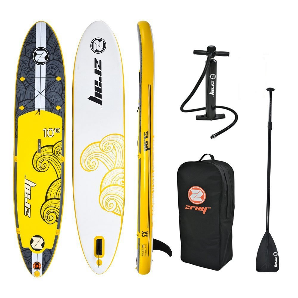 zray X2 All Around Inflatable Stand Up Paddle Board, 10'10'', Yellow by Zray