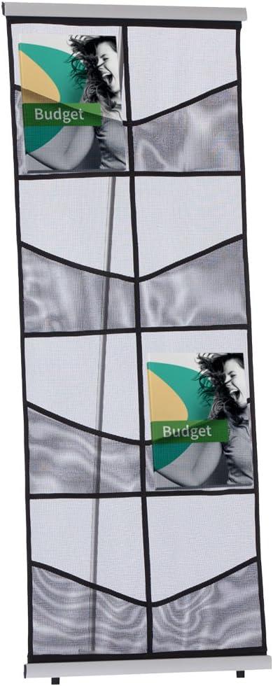 DISPLAY SALES ESPOSITORE DA Mobiler Butterfly 8 X DIN A4 Tasche a rete Borsa per il trasporto inclusa opuscolo titolare in pregiato tessuto