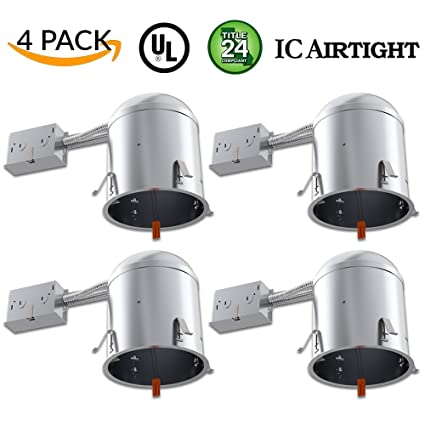Sunco lighting 4 pack 6 inch remodel led can air tight ic housing sunco lighting 4 pack 6quot inch remodel led can air tight ic housing led aloadofball Choice Image