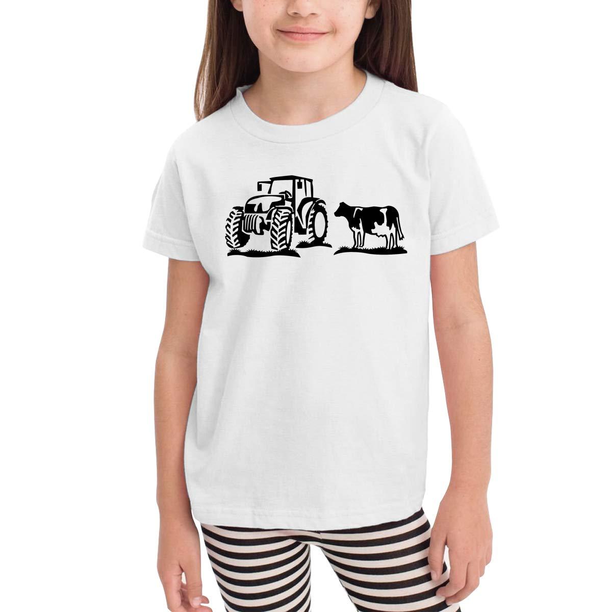Kinder Premium Unisex Youths Short Sleeve T-Shirt Kids T-Shirt Tops Gray