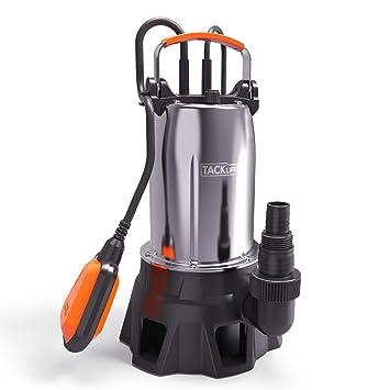 Bomba Sumergible, Bombas de Aguas Sucias 1000W, Cierre Mecánico, Caudal 20000L/H