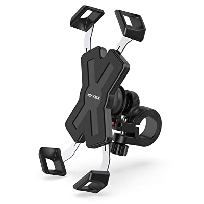 Bike Phone Mount - RYYMX Bicycle Phone Holder : 360° Rotation Adjustable Motorcycle Phone Mount for iPhone Xs Max XR X 8 7 6 Plus, Samsung S10+ S9 S8, Note 10 9 8, GPS, 4-7 inches Android Cell Phones: Automotive