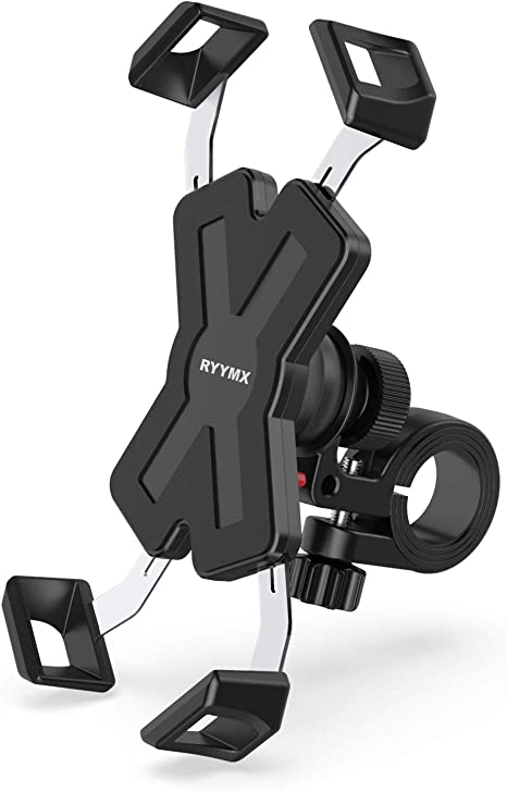 Bike Phone Mount Ryymx Bicycle Phone Holder 360 Rotation Adjustable Motorcycle Phone Mount For Iphone Xs Max Xr X 8 7 6 Plus Samsung S10 S9 S8