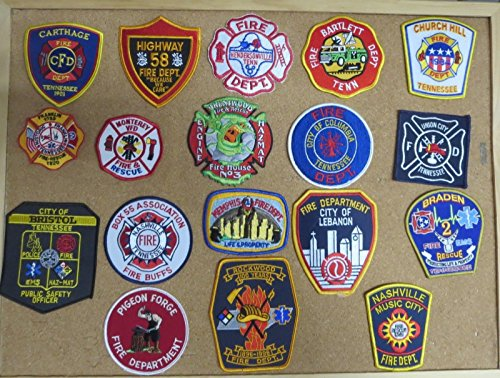 TENNESSEE FIRE/RESCUE DEPARTMENT PATCHES! SET TWO! LOT OF 18!