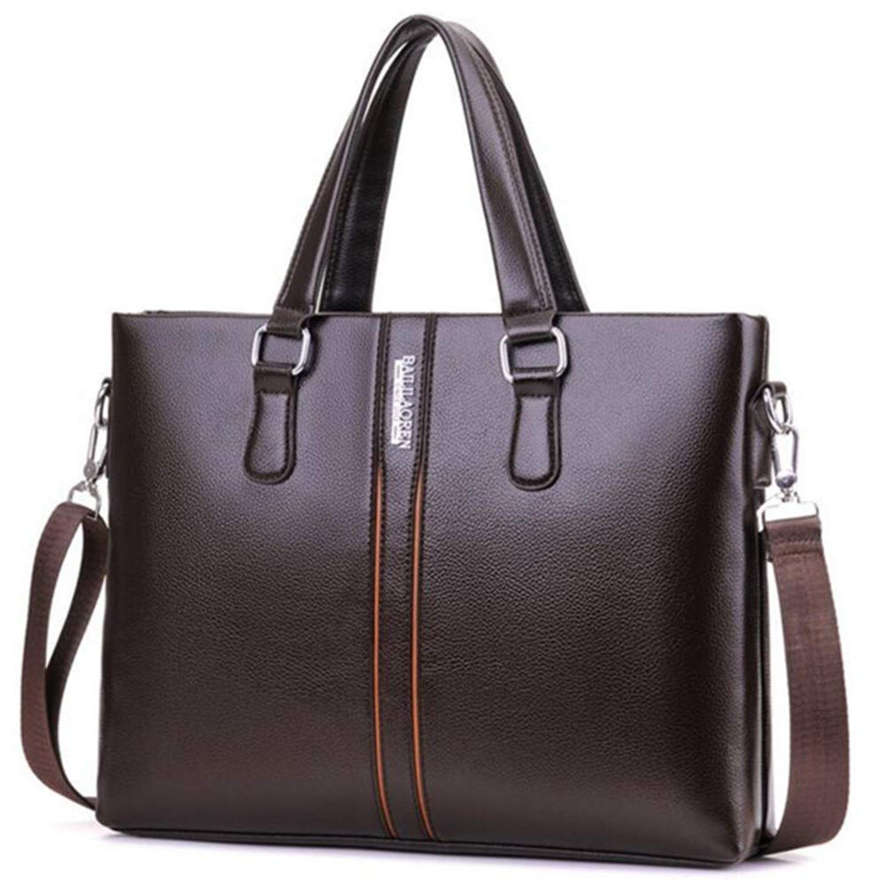 Lianaic Laptoptasche Pu Leder Weiche Leder Handtasche Geschäft Aktentasche Männer Handtasche Mode Täglich Tragen Tasche Handtasche 14 Zoll Laptop Tasche