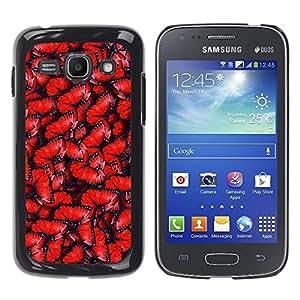Be Good Phone Accessory // Dura Cáscara cubierta Protectora Caso Carcasa Funda de Protección para Samsung Galaxy Ace 3 GT-S7270 GT-S7275 GT-S7272 // Red Pattern Wing Blue