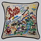 Rhode Island State Pillow by Catstudio