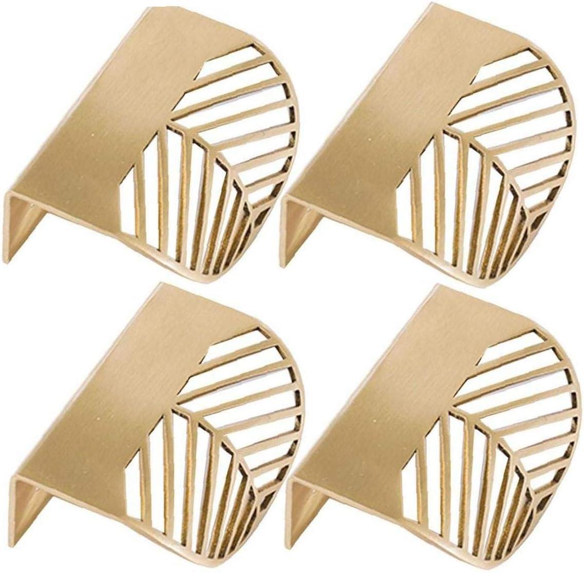 Zonfer 4pcs Forme des Feuilles dor en Laiton Cabinet Poign/ées De Meubles De Cuisine Poign/ées Poign/ée De Porte en Cuivre Tiroir Tirettes