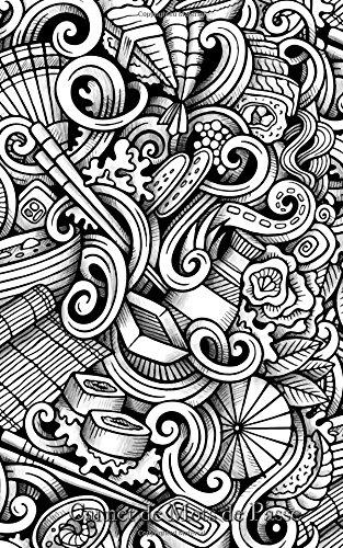Read Online Carnet de Mots de Passe: A5 - 98 Pages - 090 - Doodles Noir et Blanc (French Edition) pdf epub